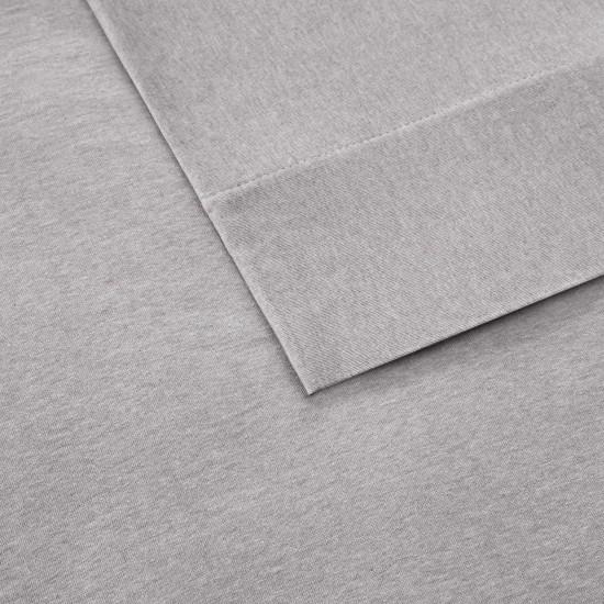 INK+IVY 100% Cotton Jersey Knit Heathered Fabric Sheet 13