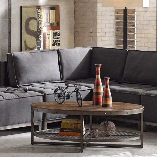 Ink+Ivy Sheridan Accent Tables - Wood, Metal Side Table - Pine Wood, Metal Frame, Industrial Style End Tables - 1 Piece Lower Shelving Small Tables For Living Room