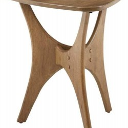 INK+IVY Blaze Triangle Wood Side Table with Light Brown Finish II120-0428