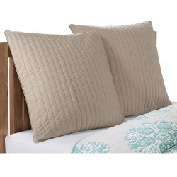 INK+IVY Camila 200TC Quilted Euro Sham, Taupe