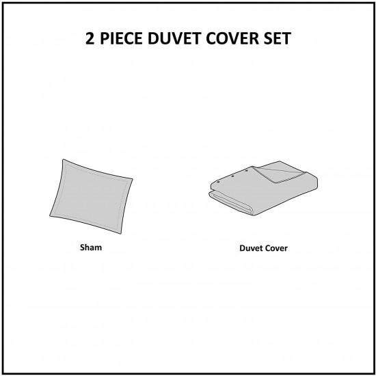 INK+IVY II12-049 Sutton Duvet Cover Mini Set, Twin(72