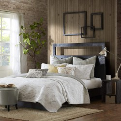 INK+IVY Pacific 140TC Coverlet Set, Full/Queen, Taupe