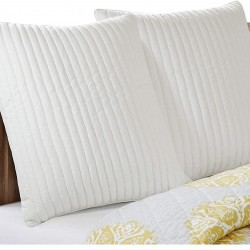 INK+IVY Camila 200TC Quilted Euro Sham, White