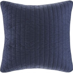 INK+IVY 100% Cotton Euro Sham - European Square Decorative Pillow Cover, Hidden Zipper Closure (Cushion NOT Included), Camila, Quilted Navy 26
