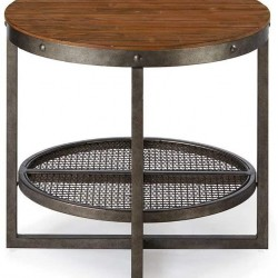 Ink+Ivy Sheridan Accent Tables - Wood, Metal Side Table - Pine Wood, Metal Frame, Modern Style End Tables - 1 Piece Lower Shelving Small Tables For Living Room