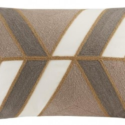 INK+IVY II30-759 Aero Embroidered Abstract Decorative Pillow 12x20 Neutral