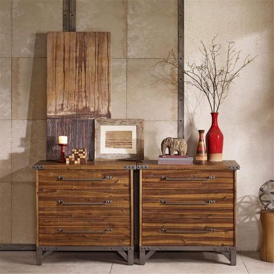 INK+IVY Lancaster 3 Drawer Dresser, Amber