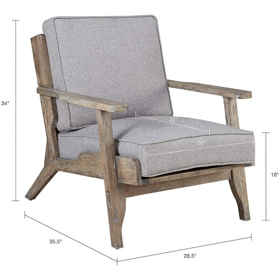 INK+IVY Malibu Accent Chair, Grey