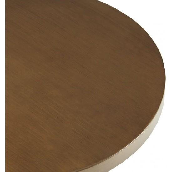 INK+IVY Mercer Accent Table - Wire Frame Pedestal Base, Round Top Modern Mid-Century Hour Glass Retro Design, 30