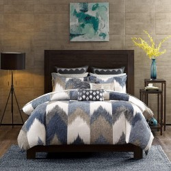INK+IVY Alpine 3 Pieces Bedding Sets – 100% Cotton Bedroom Comforters, King/Cal King, Navy