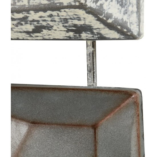 INK+IVY Essex Wall Art - Metal Iron Tinplating Home Decor Modern Contemporary, Geometric Large Accent Living Room Furniture Accessory, 28