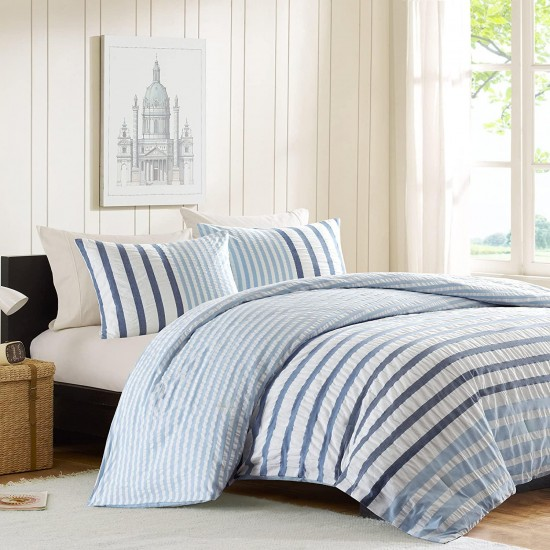 INK+IVY II10-046 Sutton Comforter Set, Twin/X-Large, Blue