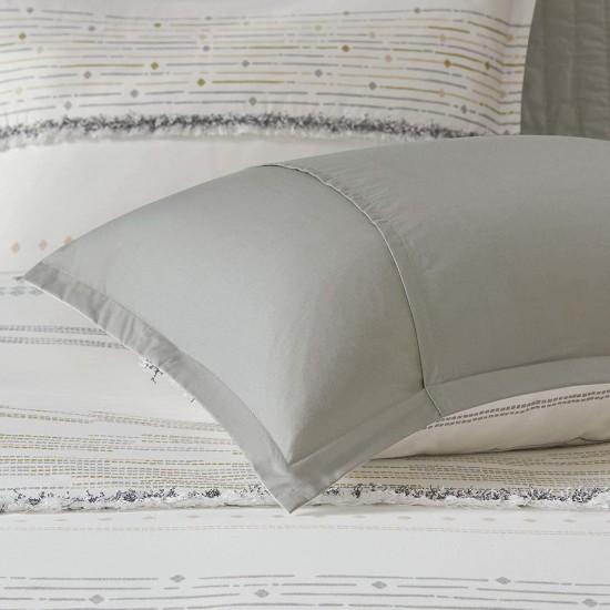 INK+IVY 100% Cotton Duvet Set Mid Century Modern Design, All Season Comforter Cover Bedding Set, Matching Shams, King/Cal King(104