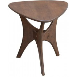 Ink+Ivy Blaze Accent Tables - Wood Side Table - Pecan, Mid-Century Modern Style End Tables - 1 Piece Small Tables For Living Room