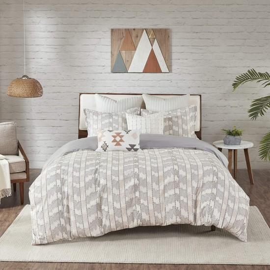 INK+IVY 100% Cotton Comforter Mid Century Modern Design All Season Bedding Set, Matching Shams, Full/Queen(88