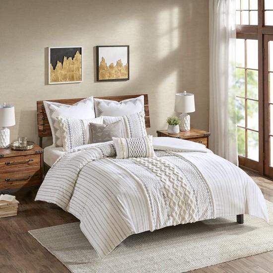 INK+IVY Mid Century Modern Cotton Decorative Pillow Hypoallergenic Sofa Cushion Lumbar, Back Support, 12