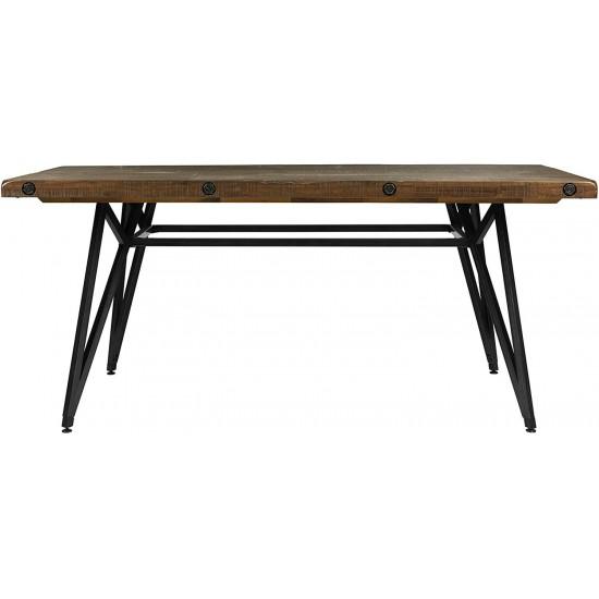 INK+IVY Trestle Dining/Gathering Table Reclaimed Brown/Gun Metal See Below