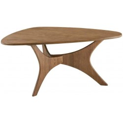 INK+IVY Blaze Triangle Wood Coffee Table with Light Brown Finish II120-0427