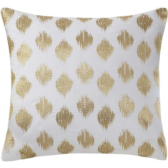 INK+IVY Mid Century Modern Cotton Decorative Pillow Hypoallergenic Sofa Cushion Lumbar, Back Support, 18
